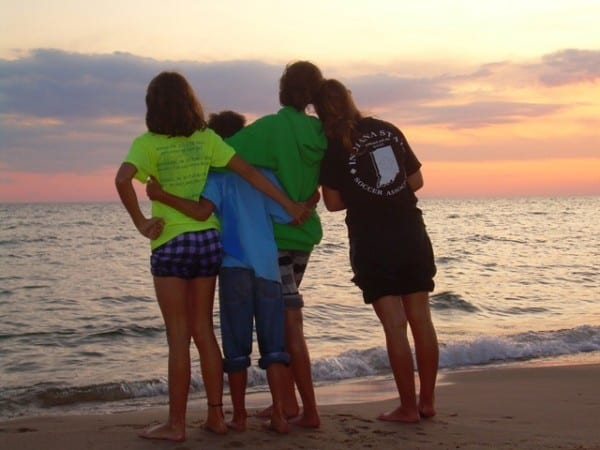 Write in the Midst of Motherhood - Sunset with Kids