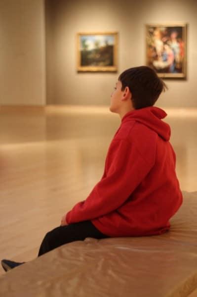 ArtMuseum-Boy Contemplates