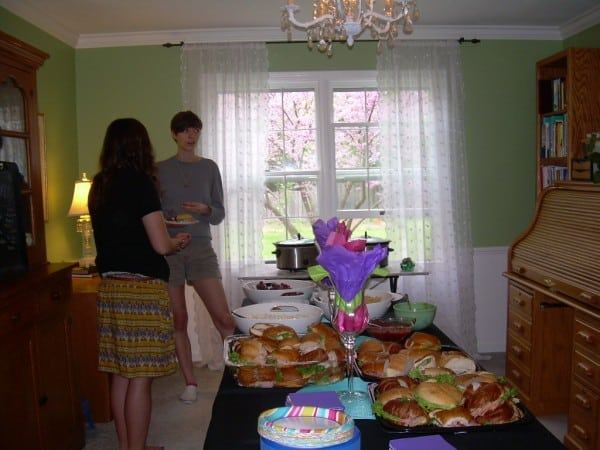 food table open house