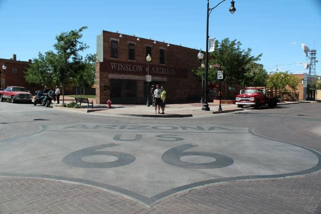 Winslow Route 66 on road