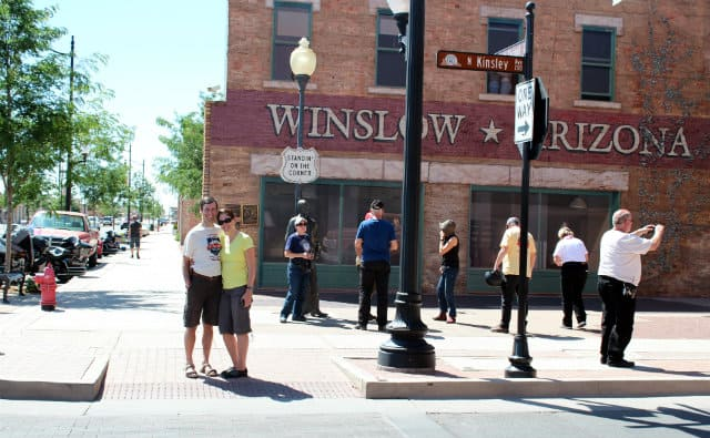 Winslow busy tourists