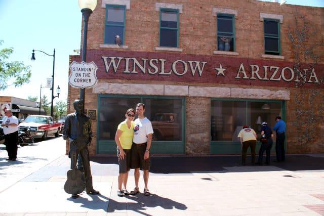 Winslow tourists background