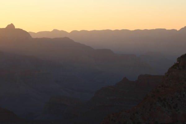 grand canyon sunrise glow