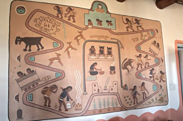 mural painted desert inn