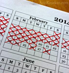 February Seinfeld Calendar
