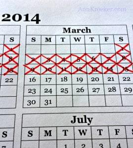 Seinfeld Calendar March