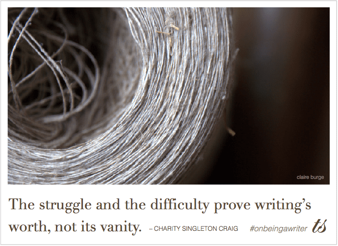 the struggle and the difficulty - Charity