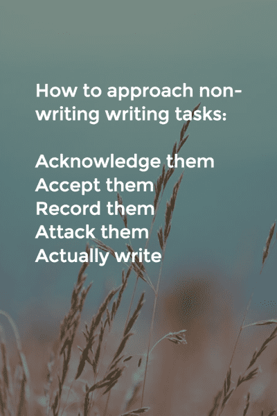 How to approach non-writing writing tasks