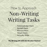 How to Approach Non-Writing Writing Tasks - The Writing Life with Ann Kroeker podcast