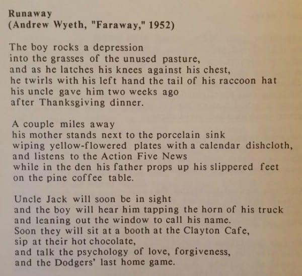 Write Poetry from Art - Runaway by Ann Kroeker
