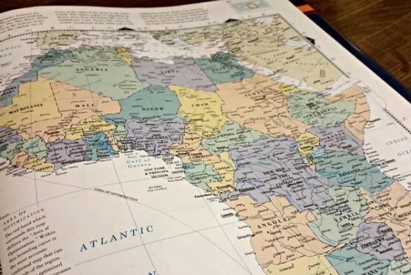 When Africa Stopped By - A Thanksgiving Story | Ann Kroeker, Writing Coach - Africa map