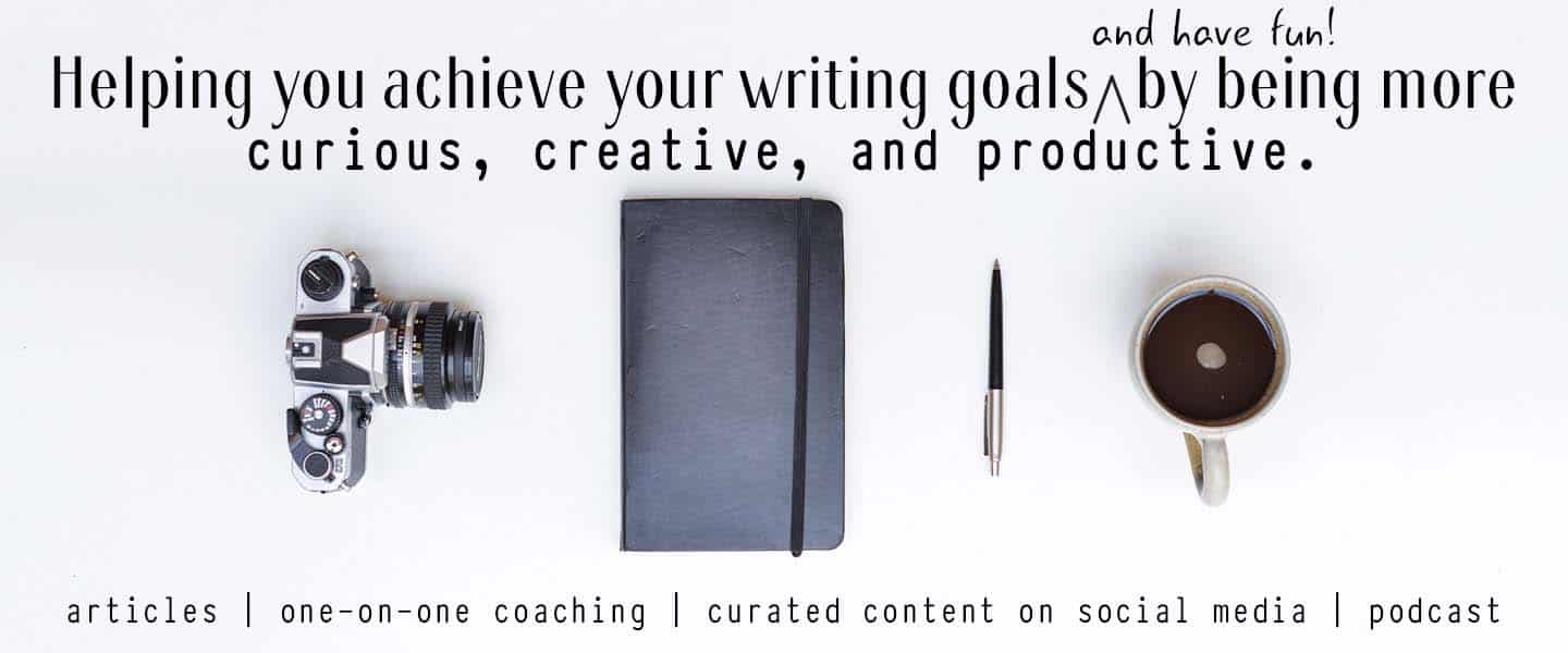Helping you achieve your writing goals (and have fun!) by being more curious, creative, and productive - Ann Kroeker Writing Coach