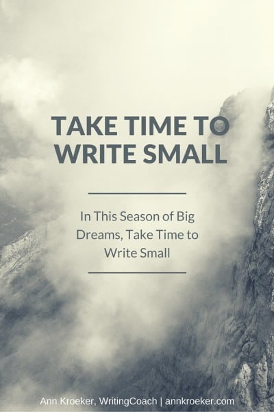 In This Season of Big Dreams, Take Time to Write Small
