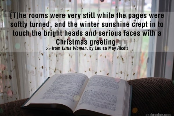 Christmas greetings and a writing quote from louisa may alcotts little women part one chapter two a merry christmas m4hsunfo