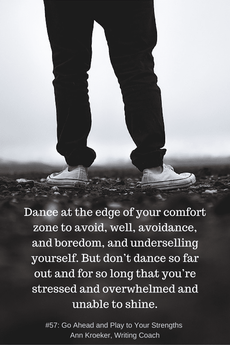 Dance at the edges of the comfort zone
