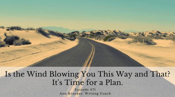 Is the Wind Blowing You This Way and That? It's Time for a Plan. - Ep 71: Ann Kroeker, Writing Coach
