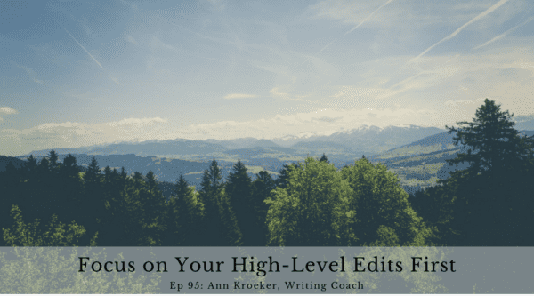 Focus on Your High-Level Edits First (Ep 95: Ann Kroeker, Writing Coach)