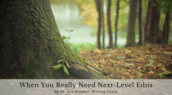 When You Really Need Next-Level Edits (Ep 96: Ann Kroeker, Writing Coach)