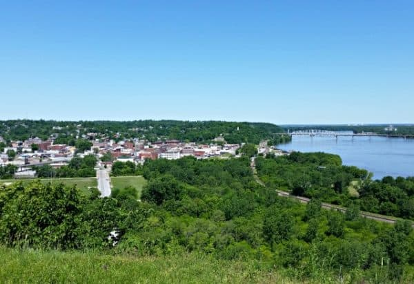 View from Lovers Leap - Mark Twain's Hannibal, Missouri