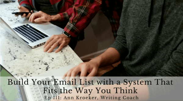 Build Your Email List with a System That Fits the Way You Think (Ep 111: Ann Kroeker, Writing Coach)