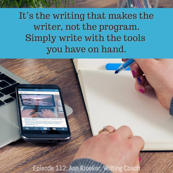 It's the writing that makes the writer, not the program.