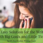 Ep 113: An Easy Solution for the Writer with Big Goals and Little Time