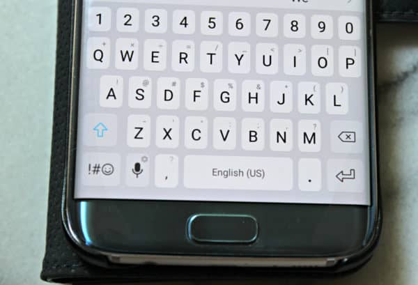 microphone button on Android keyboard - great to use when you write with your voice