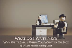 Ep 134: What Do I Write Next – Why Write Small When You Want to Go Big?
