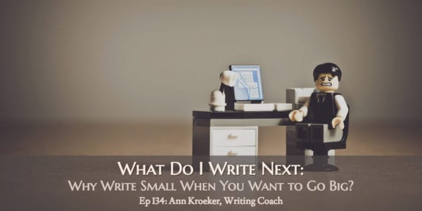 What to Write Next: Why Write Small When You Want to Go Big (Ep 134: Ann Kroeker, Writing Coach)